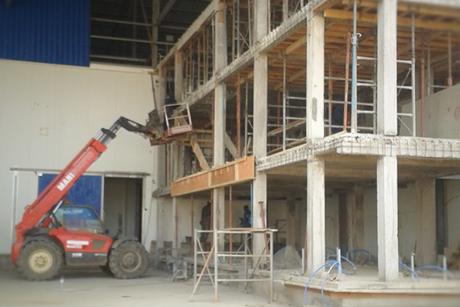 Travaux de gros oeuvre, élévation des murs, superstructure