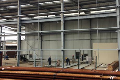 Réalisation hangar et béton